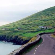 Dingle, Sleigh Head Drive, Ireland, the barren patchwork fields just dump into the sea.