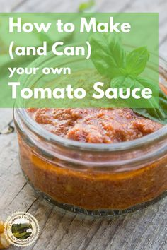 Learn how to make and can tomato sauce at home! This easy recipe is water bath canned, or pressure canned if you add meat. #canning #tomatosauce #homemade #preserving #waterbathcan #food #canningforbeginners How To Make Sauce, How To Make Homemade, Homemade Tomato Sauce, Canned Tomato Sauce, Water Bath Canning, Smoked Fish, Fish And Meat, Emergency Food, Pressure Canning