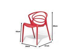 Stuhl rot - Designstuhl - Wohnzimmerstuhl - Essstuhl - BEND
