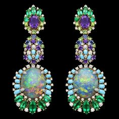 Dior semi precious stone drop earrings