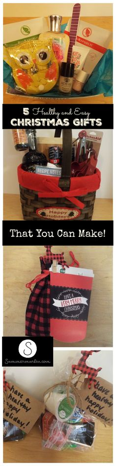 No more ugly Christmas sweaters! Here are 5 fun, easy, and healthy, homemade Christmas gift ideas for all of the people on your list!