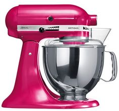 I am so happy with my raspberry ice Kitchenaid… and it matches my kitchen walls too ...