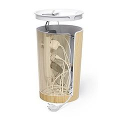 Amazon.com: Bluelounge CableBin - Light Wood - Cable Management - Flame Retardant: Home Audio & Theater
