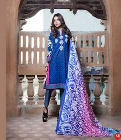Monsoon Printed Cambric Suit collection By Al-Zohaib Textile AZ_4B