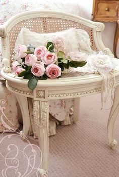 Roses and chair