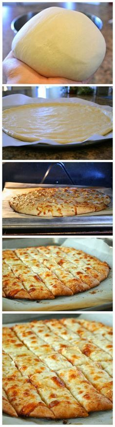 Fail-Proof Pizza Dough and Cheesy Garlic Bread Sticks ~ Freshdreamer