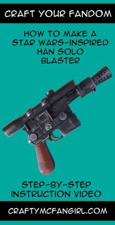 Blue Han Solo Gun//Blaster  Weapon VERY CLOSE Replacemen Star Wars for Vintage MP