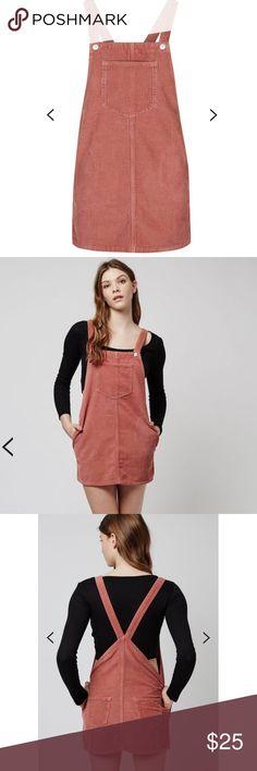 Topshop Corduroy Pinafore Mauve Dress New without tags Topshop Dresses