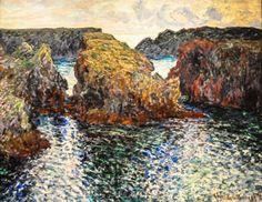Claude Monet - Rocks at Port Goulphar, Belle-Ile, 1886