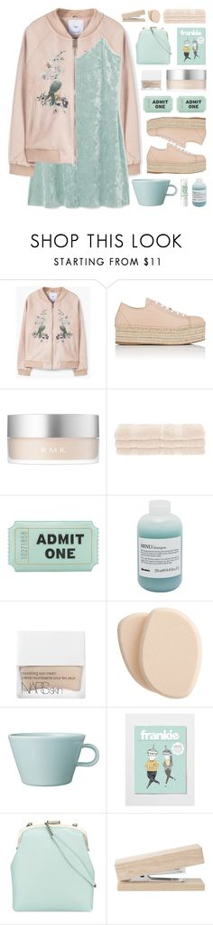 """The sweet girl next door"" by vip-beauty ❤ liked on Polyvore featuring MANGO, Miu Miu, RMK, Superior, Kate Spade, Davines, NARS Cosmetics, Clé de Peau Beauté, Arabia and Tammy & Benjamin"