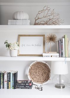 3 Bookshelf Styling Problems and How to Solve Them - Shelf Bookcase - Ideas of S. - 3 Bookshelf Styling Problems and How to Solve Them – Shelf Bookcase – Ideas of S… – - Styling Bookshelves, Bookshelf Design, Bookcases, Bookshelf Decorating, Bookshelf Ideas, White Bookshelves, White Shelves, Ikea Interior, Interior Design