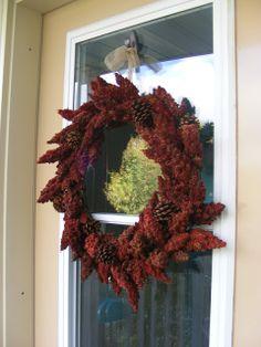 Fresh sumac wreath