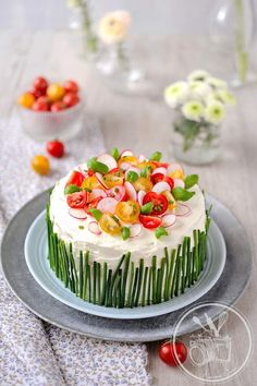 Soft, pillowy bread, fresh vegetables and tender smoked fish, meats and tofu fill these luscious sandwich cakes. Inspired by the Swedish Smörgåstårta and Ita Sandwich Cake, Tea Sandwiches, Food Network Recipes, Cooking Recipes, Good Food, Yummy Food, Swedish Recipes, Appetisers, Savoury Cake
