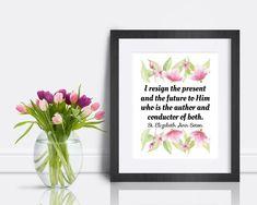 St. Elizabeth Ann Seton Quote Print The Present and the   Etsy Elizabeth Ann Seton, Quote Prints, Art Prints, I Resign, Saints, Future Quotes, Saint Quotes, Catholic Art, Color Calibration