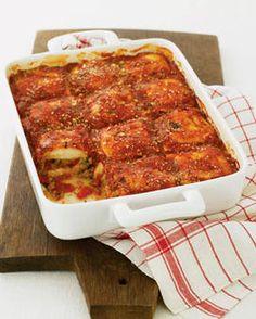 Ravioli pasta dish http://www.womansday.com/recipefinder/ravioli-sausage-lasagna-121968?cid=shne