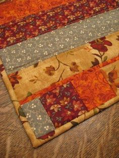 Quilted table runner quilted fall table by WarmandCozyQuilts