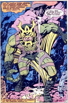 Mantis of the New Gods by Jack Kirby
