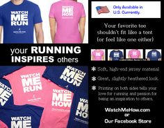 If you're a runner or know someone that is, you'll be flabbergasted to know you can now rep the sport you love while wearing the great message of inspiring others through your own dedication. ~Watch Me How