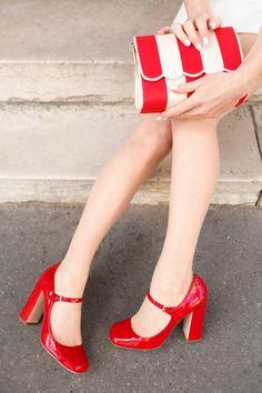 The Cherry Blossom Girl. Miu Miu shoes