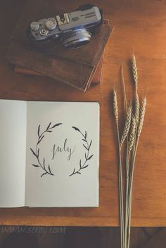Beautiful :) Minimalistic and elegant bullet journal inspiration. Starting a new month. Journal Layout, My Journal, Journal Pages, Journals, Bullet Journal Month Cover, Summer Journal, Journal Ideas, Organisation Journal, Bujo Inspiration