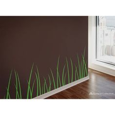 """Grass Blades Wall DecalWall  Tattoos™ are cut from a specialized vinyl that is specifically designed  for home décor. Unlike standard high gloss signage vinyl, this product  has a matte finish that gives a gorgeous painted look. The edges are  crisp, and the effect is stunning. Perfect for the temporary renter or for people who change their mind with the seasonsMaterial is removable without leaving behind any trace of adhesiveDimensions are per sheet decals come onMaximum decal height: 21"""""""