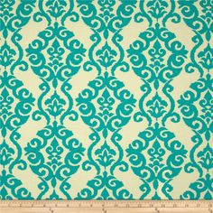 Waverly Sun N Shade Luminary Turquoise from @fabricdotcom  Waverly's Sun N Shade fabrics meet the rugged demands of casual indoor and outdoor living. This indoor/outdoor fabric is fade resistant up to 500 hours of direct sun exposure. Create decorative toss pillows, chair pads, tabletop and tote bags. To maintain the life of the fabric bring indoors when not in use. This fabric can easily be cleaned by wiping down or hand washing with warm water and a mild soap solution, simply rinse with…