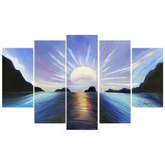 Looking for that perfect piece to complete any room in your home, or office? Enhance your living space with this beautiful top of the water falls multi-panel canvas oil painting. Your home is a statem