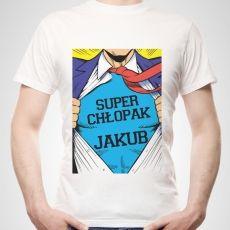 Koszulka personalizowana męska SUPER CHŁOPAK idealny na urodziny