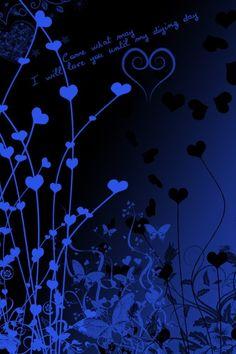 Blue hearts.  For similar pins please follow me at - https://www.pinterest.com/annelouise1959/colour-me-blue/