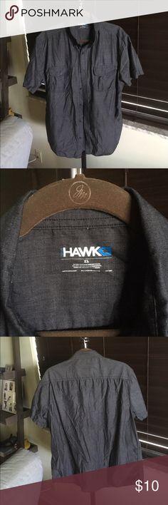 Tony Hawk Short Sleeve Shirt EUC. Charcoal gray shirt. Shirts Casual Button Down Shirts
