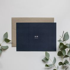 Love this minimalist Save the Date invitation.