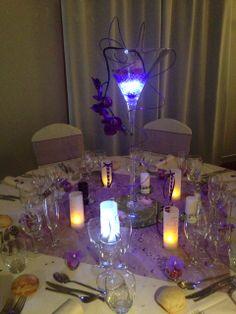 Centre de table vase martini illuminé, menus photophores laçage façon corset ... by Gaëlle Déco ( gaelledeco.free.fr )
