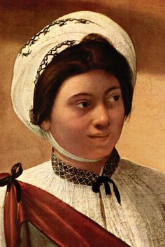 Fortune Teller, detail, by Caravaggio