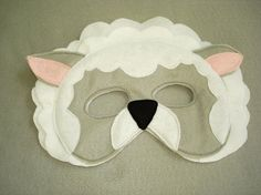 Children's SHEEP Farm Animal Felt Mask by magicalattic on Etsy, $12.50