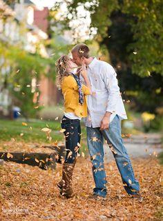 52 Romantic Fall Engagement Photo Ideas | HappyWedd.com                                                                                                                                                      More