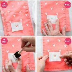 Criação de uma estampa para customizar roupas!