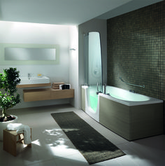 Combi Units: everyone can enjoy them as either a #bathtub or a #shower as they are easy, safe and comfortable to use
