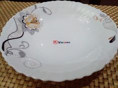Arrival of New Designs. Vitriares Decorated Opal Tableware (Your Prestigious Table Top) Article: 8.50 Inch Soup Plate. Microwave Safe, Dishwasher Safe. Shock Proof. For More Information. MS Trading Company (Crockery Distribution House) 112. First Floor. Khaleej Tower. Jail Road - Lahore. Tel: 0332 0291970 / 0334 4447857 Whats App: 0332 0291970 Email: ahmadkhayam@gmail.com