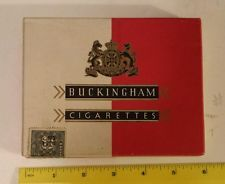 "RARE CANADIAN (HAMILTON, ONT) ""BUCKINGHAM"" CARDBOARD FLAT 50  CIGARETTE BOX-NICE"