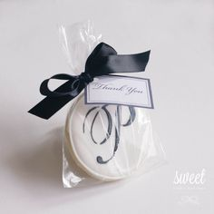 Monogram Cookie Favors // One Dozen Sugar by sweetcookieboutique, $36.00