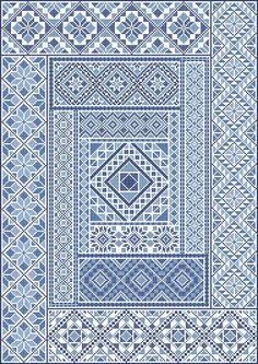 Spanish Diamonds PDF Chart in Cross Stitch by NorthernExpressions1