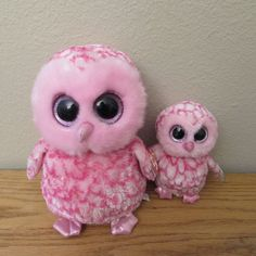 bb3a29db16d Pinky Owl Beanie Boo Medium Bird Stuffed Animal by Ty 36994