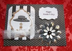 Mother's Day Black and White handmade card