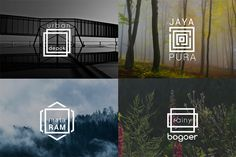 Minimal Square Logo - Hipster Line by wopras on @creativemarket