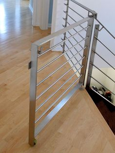 Custom Modern Staircase Gate Via Atticmag