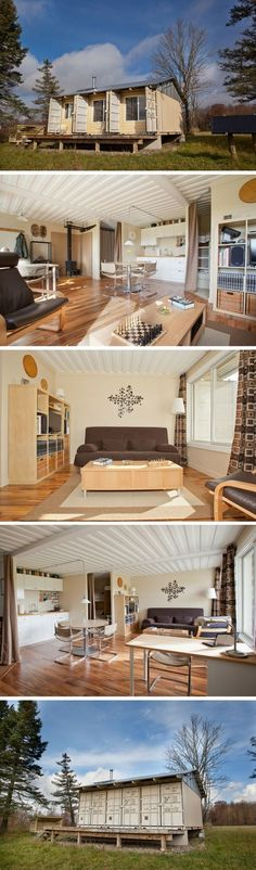 TIN CAN SHIPPING CONTAINER CABIN