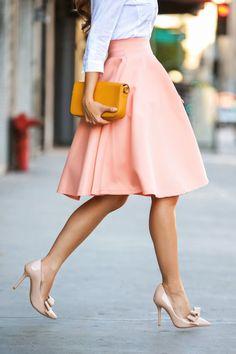 jupe taille haute rétro