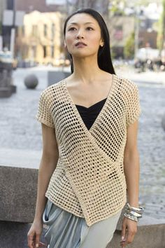 Crochet Tokyo Vest designed by Doris Chan - Skill Level beginner. Free download.