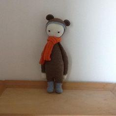 BINA the bear made by Maud R. / crochet pattern by lalylala