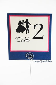 Little Mermaid Table Numbers Ariel and Eric Disney by Wedsclusive, $40.00